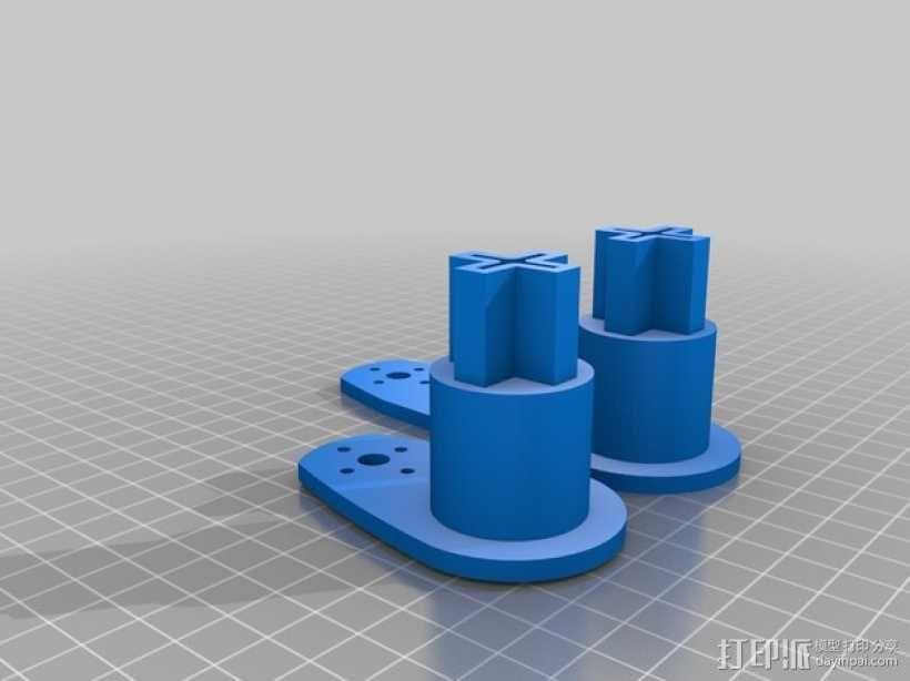 马达配适器 3D模型  图2