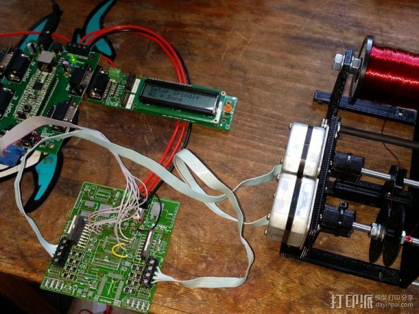 自动绕线机 3D模型  图1