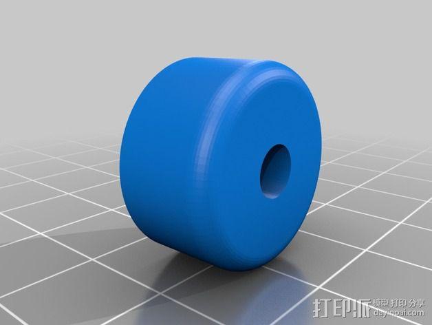 滑水板 Gopro相机固定架 3D模型  图2