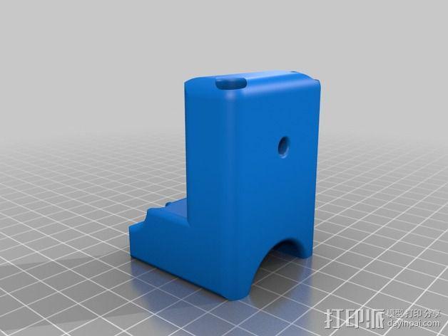 滑水板 Gopro相机固定架 3D模型  图3