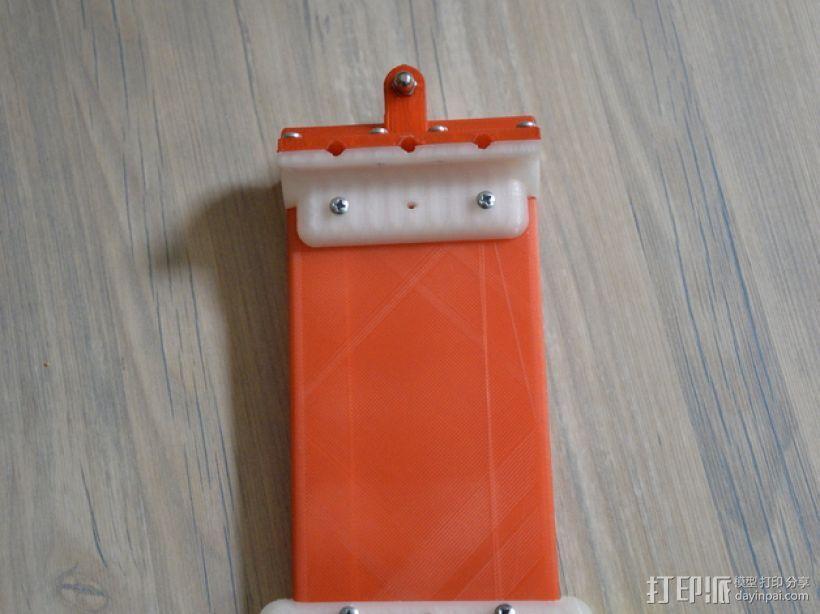 滑水板 Gopro相机固定架 3D模型  图1