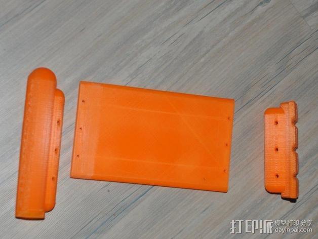 滑水板 Gopro相机固定架 3D模型  图6