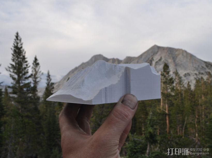 约塞米蒂国家公园 Conness山峰 3D模型  图1