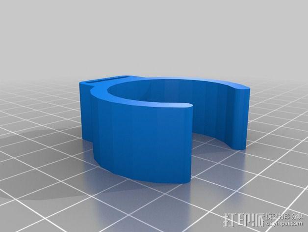 自行车把手 LED电筒固定夹 3D模型  图2