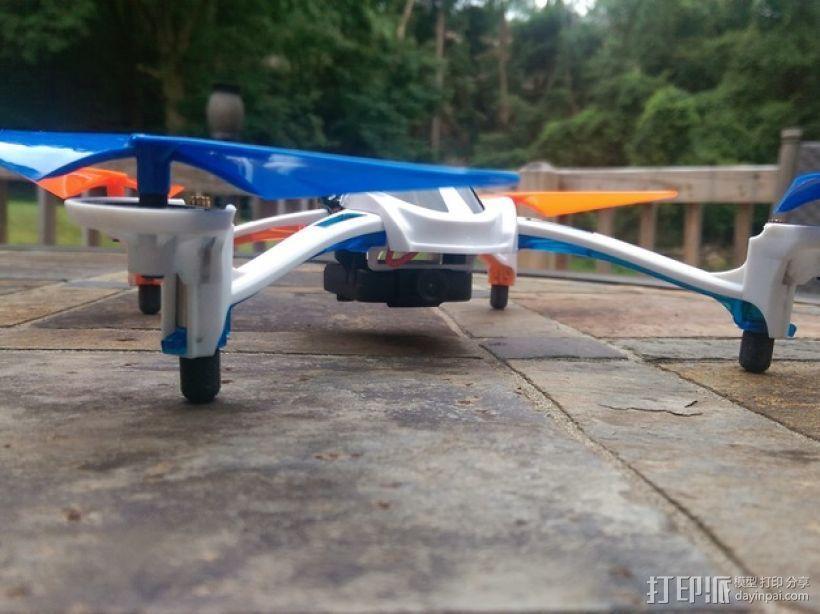 四轴飞行器 起落架 3D模型  图1