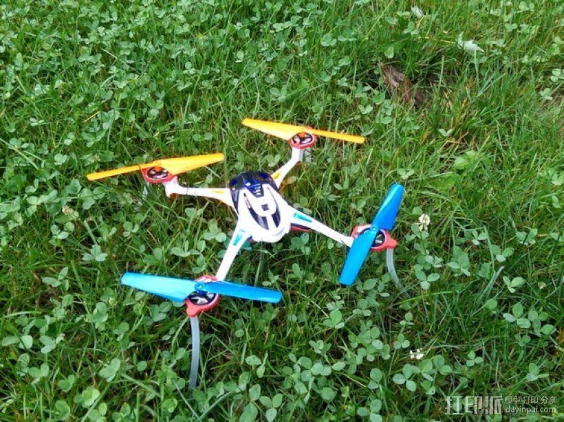 四轴飞行器 起落架 3D模型  图3