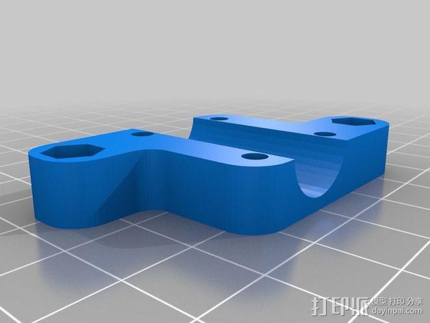 四轴飞行器框架 3D模型  图4