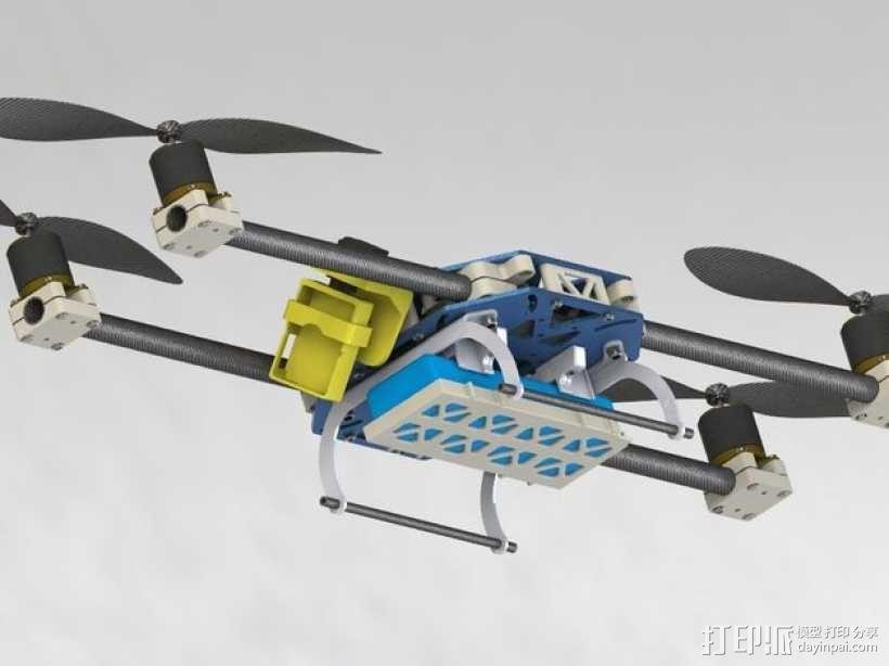 四轴飞行器框架 3D模型  图21