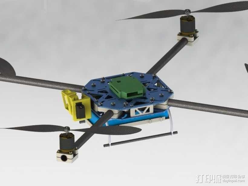 四轴飞行器框架 3D模型  图23