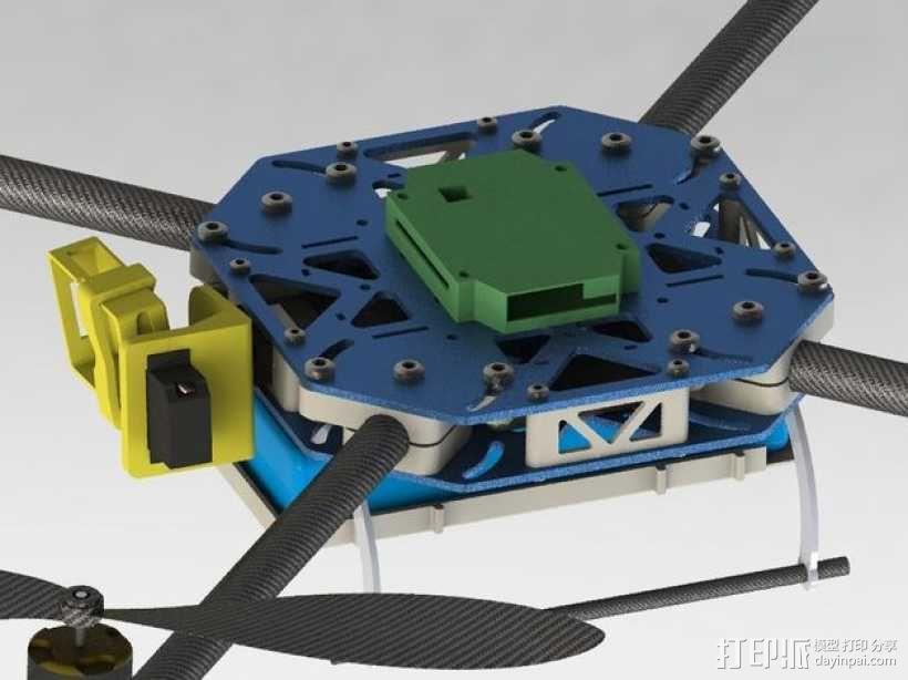 四轴飞行器框架 3D模型  图24