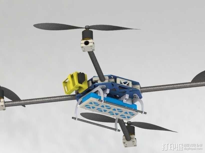 四轴飞行器框架 3D模型  图22
