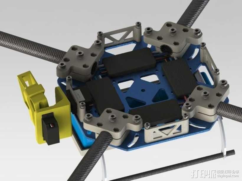 四轴飞行器框架 3D模型  图25