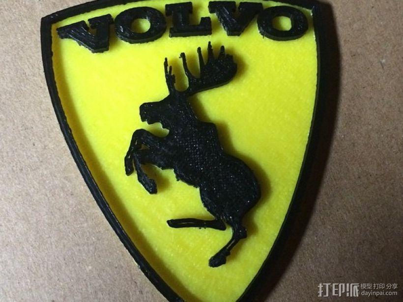 沃尔沃 Prancing Moose汽车标志 3D模型  图1
