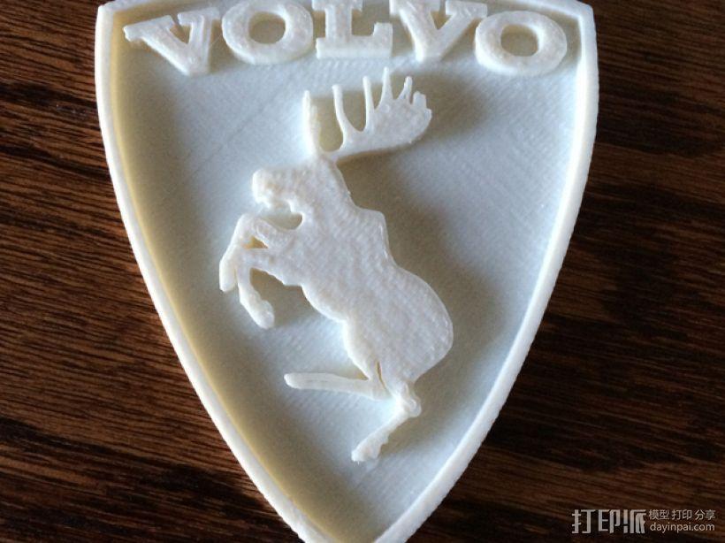 沃尔沃 Prancing Moose汽车标志 3D模型  图2