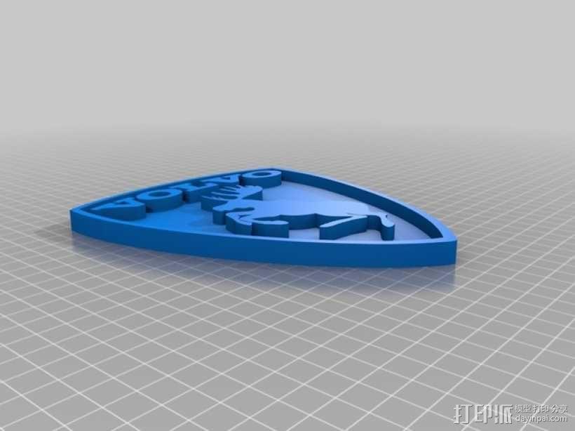 沃尔沃 Prancing Moose汽车标志 3D模型  图4
