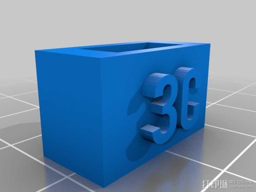 电池连接器 接头 3D模型  图1