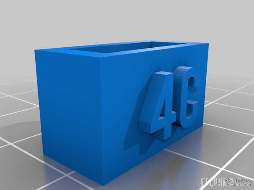 电池连接器 接头 3D模型  图2