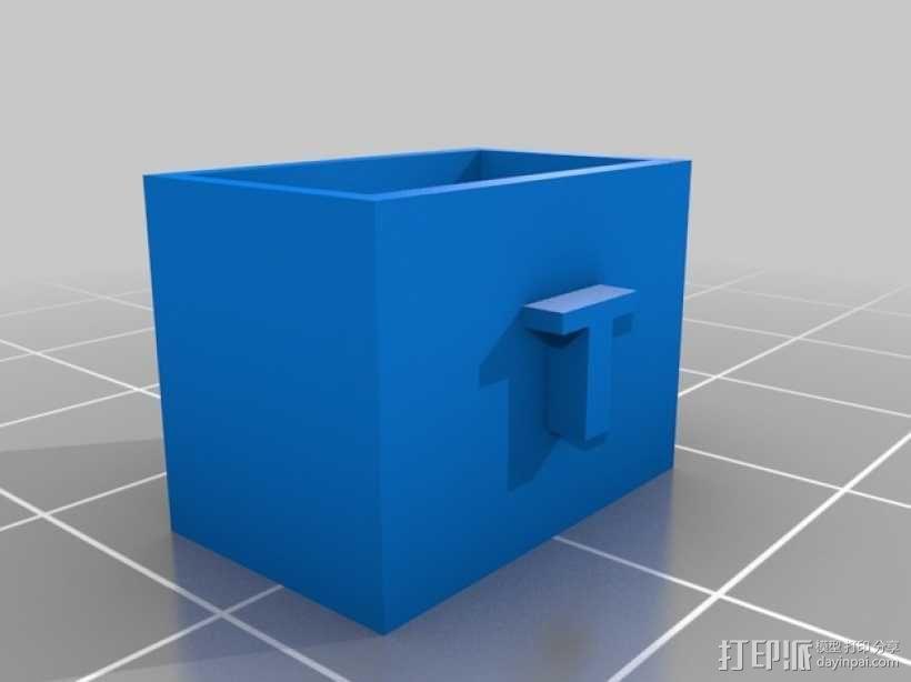 电池连接器 接头 3D模型  图3