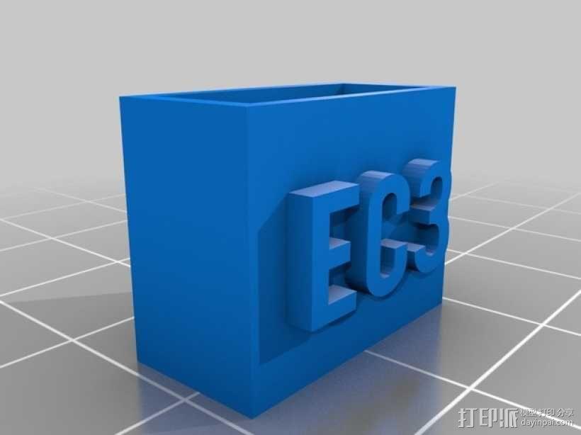 电池连接器 接头 3D模型  图4