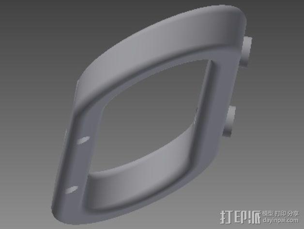 Traxxas遥控车 前后保险杠支架 3D模型  图4