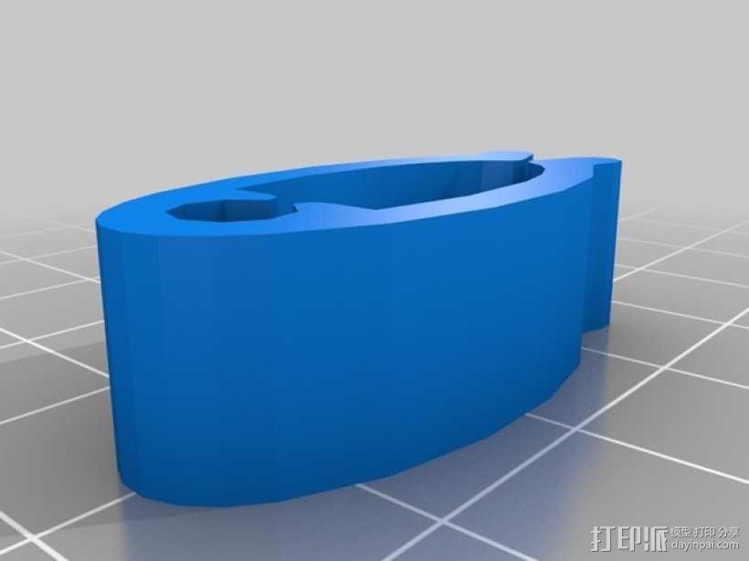 线缆夹 3D模型  图3