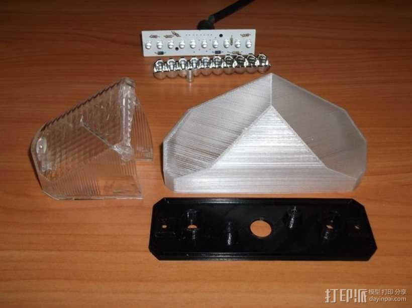 摩托车刹车灯 3D模型  图4
