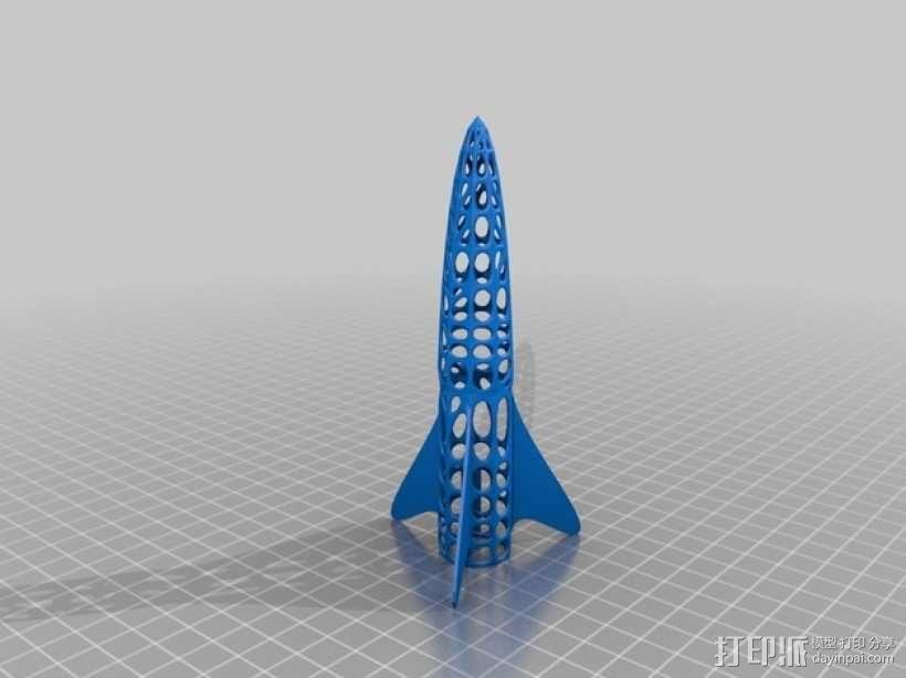 迷你火箭 3D模型  图2