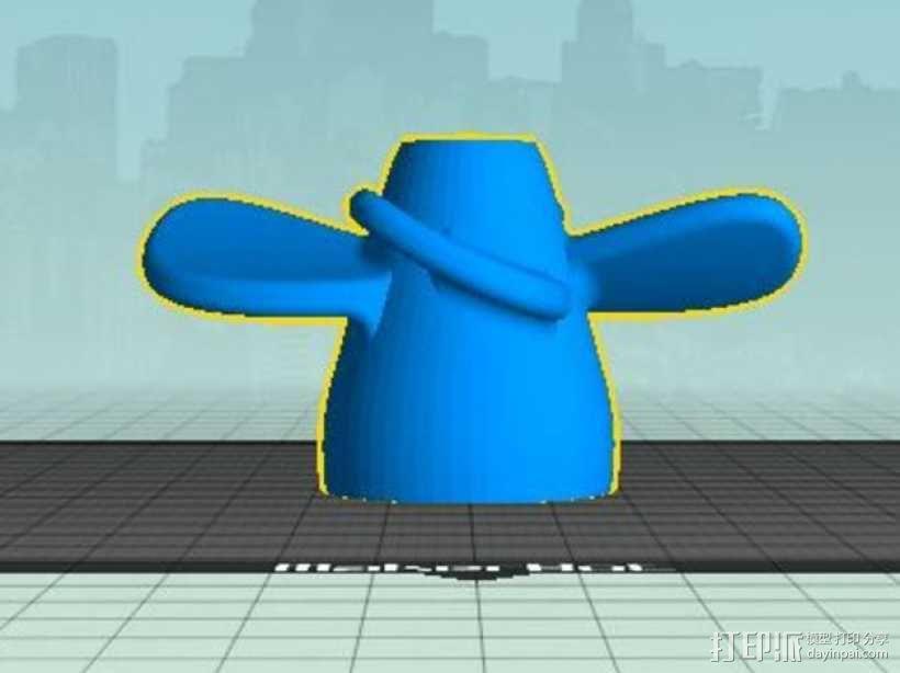 四叶螺旋桨 3D模型  图1