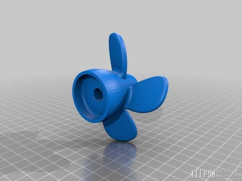 四叶螺旋桨 3D模型  图2