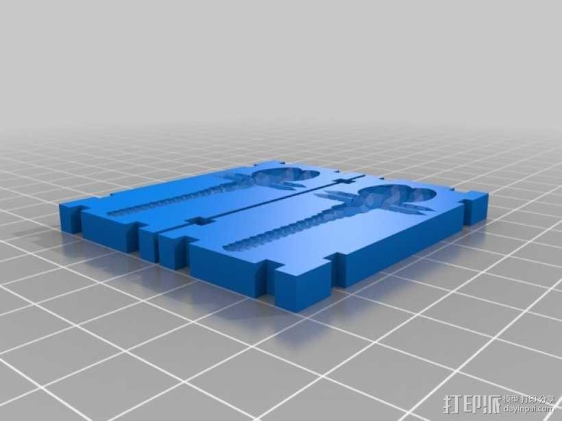 蜻蜓 鱼饵模具 3D模型  图1