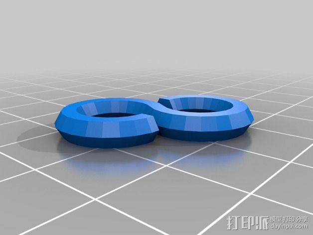 LED彩条固定夹 3D模型  图3