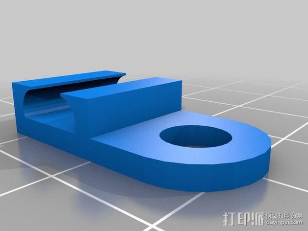 LED彩条固定夹 3D模型  图2