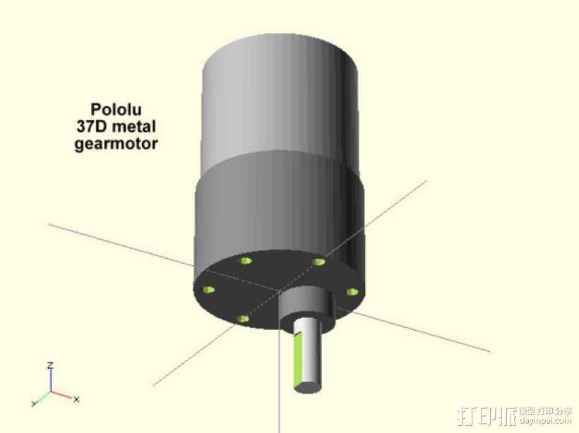 齿轮电动机  3D模型  图1