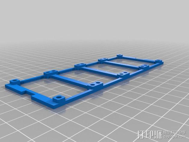 参数化LED灯支撑装置 3D模型  图2