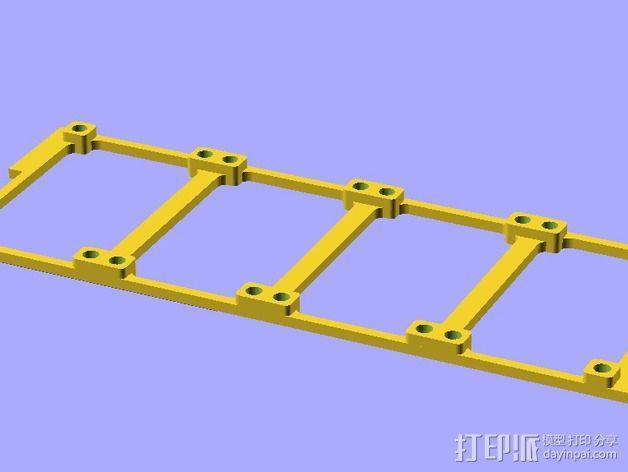参数化LED灯支撑装置 3D模型  图6