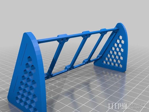 参数化LED灯支撑装置 3D模型  图4