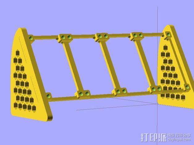参数化LED灯支撑装置 3D模型  图5