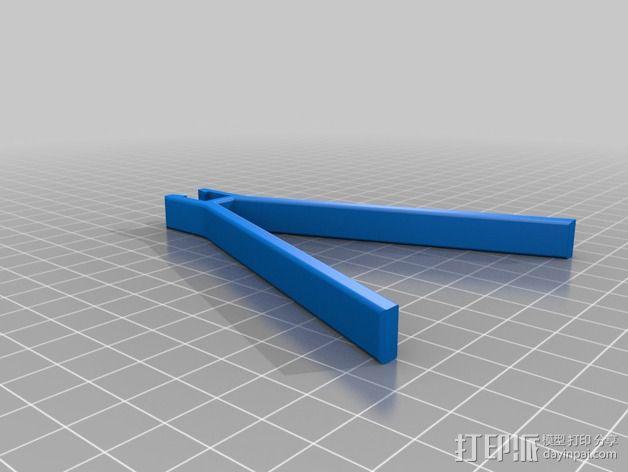 可折叠三轴飞行器 3D模型  图4