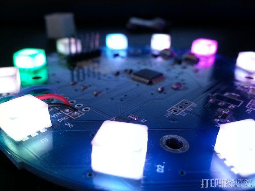 LED扩散器 帽盖 3D模型  图1
