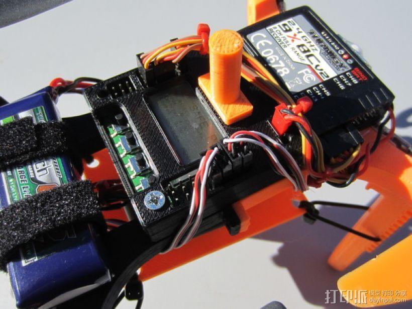 迷你多轴飞行器 可调节相机支架 3D模型  图1
