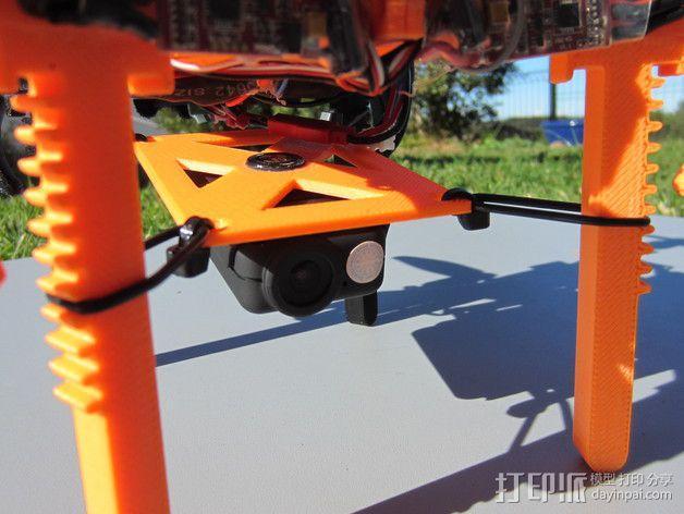 迷你多轴飞行器 可调节相机支架 3D模型  图5