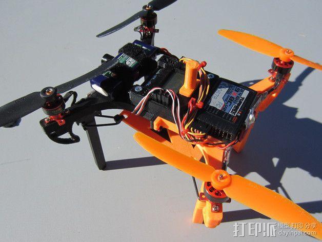 迷你多轴飞行器 可调节相机支架 3D模型  图4