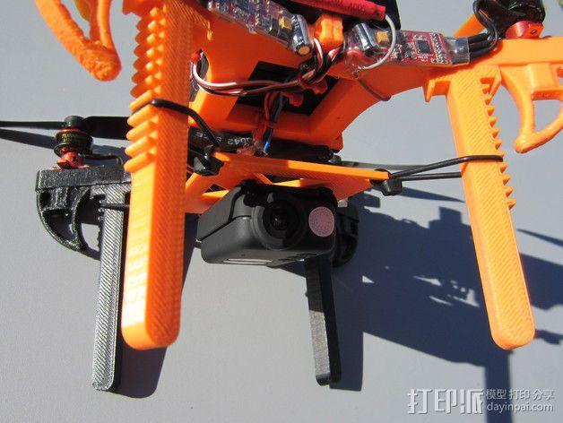 迷你多轴飞行器 可调节相机支架 3D模型  图6