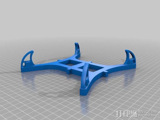 迷你多轴飞行器 可调节相机支架 3D模型  图9
