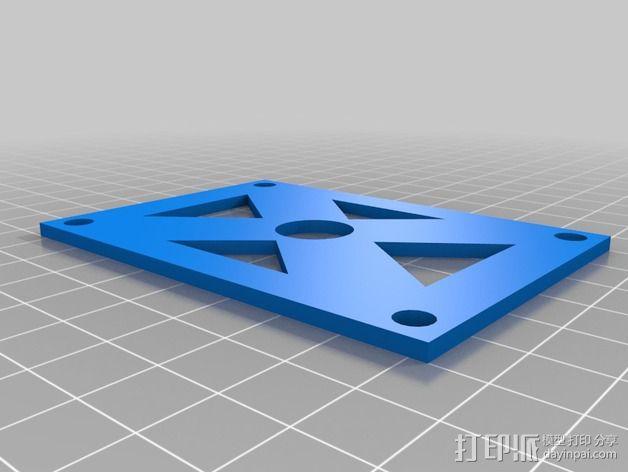 迷你多轴飞行器 可调节相机支架 3D模型  图10