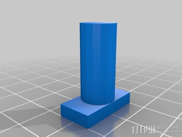 迷你多轴飞行器 可调节相机支架 3D模型  图11