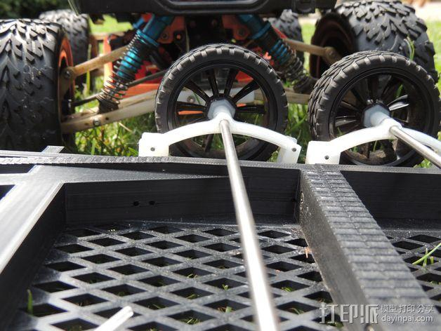越野车 拖车 悬浮支架 3D模型  图2