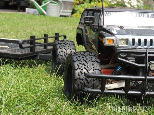 越野车 拖车 悬浮支架 3D模型  图4