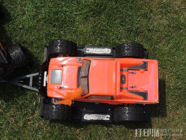 越野车 拖车 悬浮支架 3D模型  图6