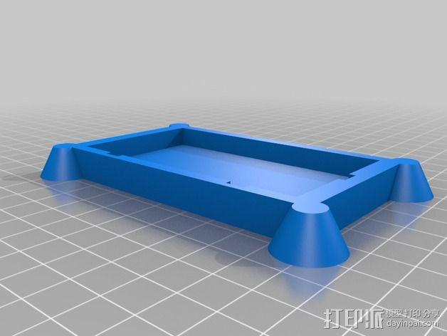迷你实验电路板底座 3D模型  图2